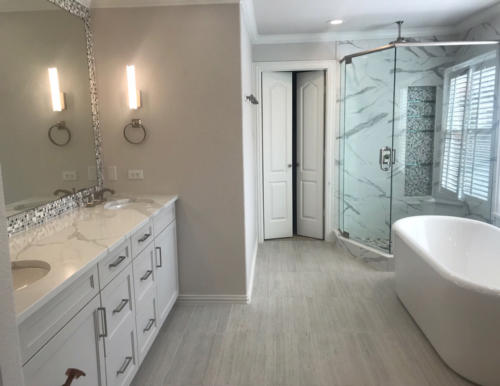 Residential Bath Designed by GST Interiors